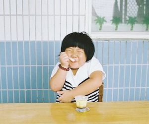 asian, blue, and boy image