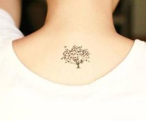tattoo, tree, and tatoo image