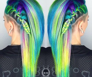 hairstyle, alternative, and beauty image