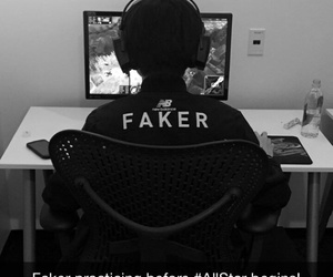 all star, lol, and faker image