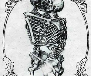 skull, kiss, and skeleton image