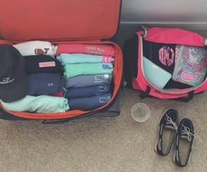 cruise, luggage, and preppy image