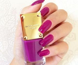 nails, purple, and Michael Kors image