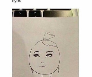 funny, eyes, and draw image