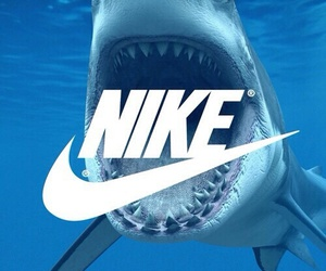 nike, shark, and wallpaper image