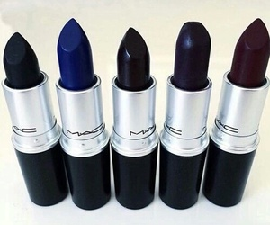 mac, lipstick, and black image