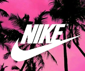 beach, palm, and nike image