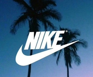 nike, palm, and purple image
