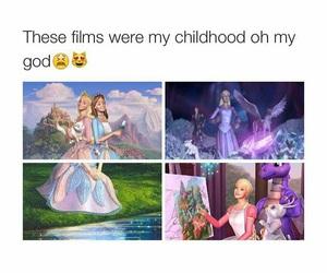 childhood, barbie, and movies image
