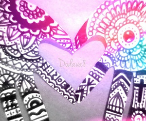 black and white, colores, and hands image
