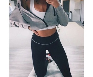 girl, fashion, and fitness image