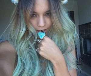 hair, vanessa hudgens, and blue image