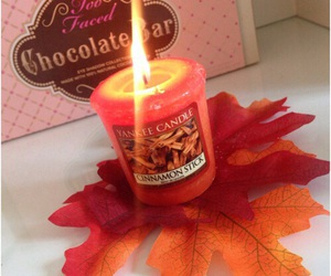 autumn, candle, and yankee candle image
