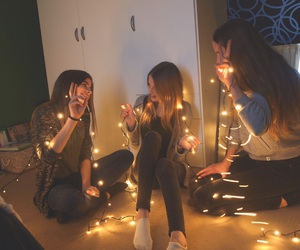 lights, friends, and best friends image