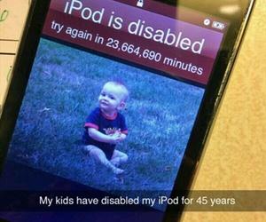 funny, ipod, and kids image