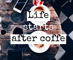 coffee, iphone, and life image
