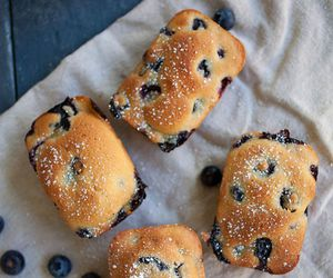blueberry, food, and sweet image