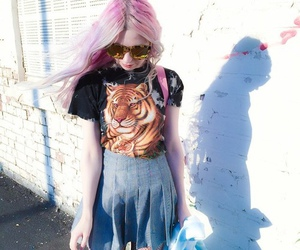 clothes, color hair, and style image