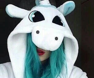 unicorn, blue, and tumblr image