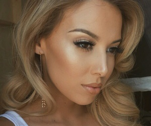 hair, lashes, and highlighter image