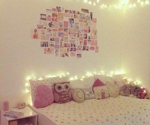bedroom, deco, and girly image