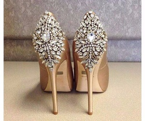 shoes, heels, and diamond image