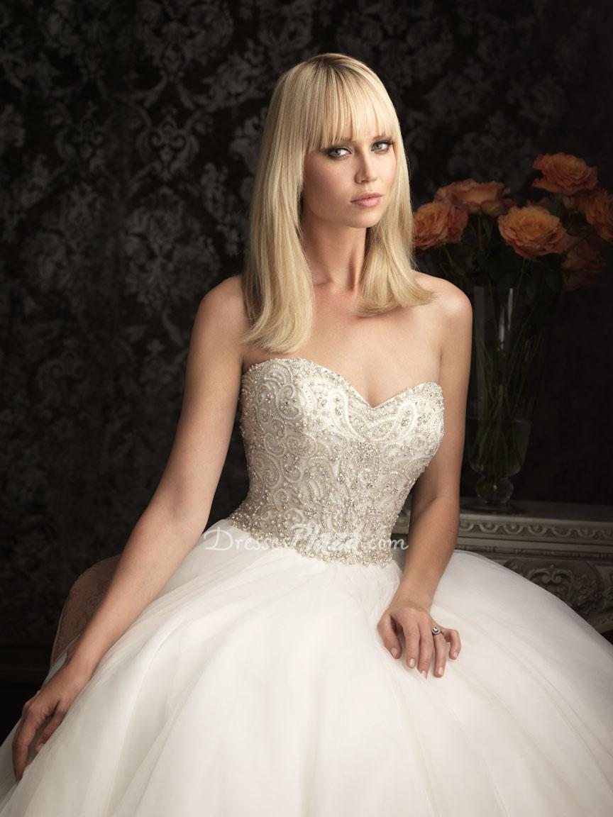 Ball Gown Sweetheart Crystal Embroidered Beaded Bodice