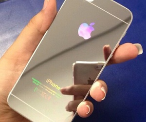iphone, apple, and mirror image