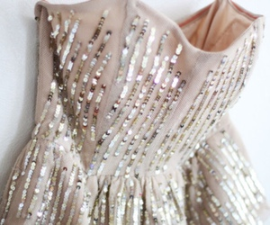 fashion, dress, and sequins image