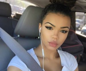 girl, beauty, and eyebrows image