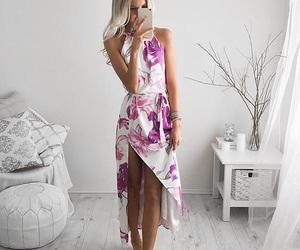 beautiful, dress, and purple image