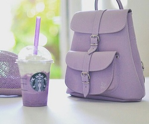 starbucks, purple, and bag image
