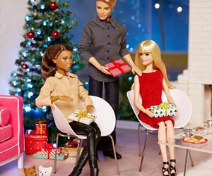 barbie, christmas, and friends image