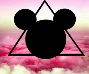 pink, disney, and mickey mouse image