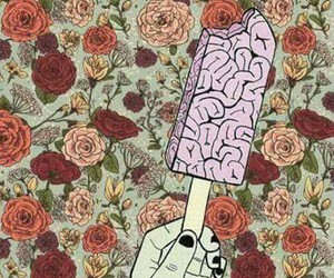 brain, flower, and indie image