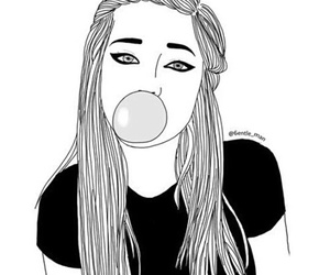 Art Black And White Girl Yawh On We Heart It