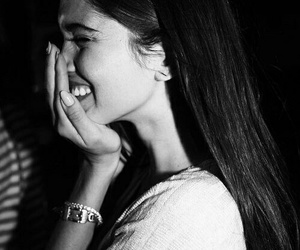 black and white, smile, and vs image