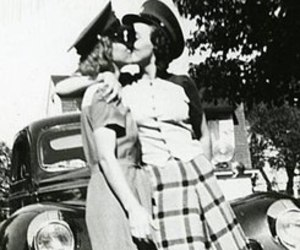 couple, lesbian, and vintage image