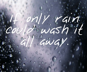 heart, quote, and rain image