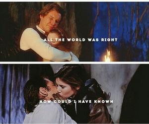 han solo, Princess Leia, and star wars image