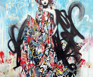 geisha, hush, and streetart image