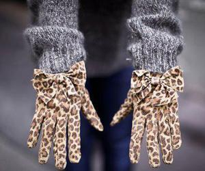 fashion, gloves, and leopard image