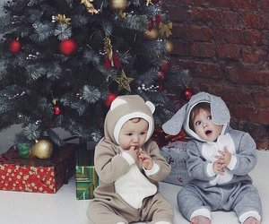 baby, christmas, and happy image