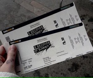 5sos, ticket, and 5 seconds of summer image