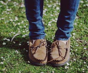fashion, grass, and shoes image
