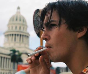 actor, brown eyes, and cigarette image