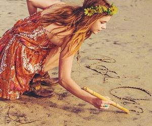 beach, barbara palvin, and model image