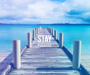 positive, blue, and motivation image
