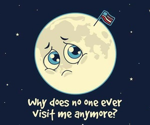 moon, sad, and funny image