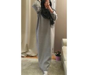 hijab and grey image